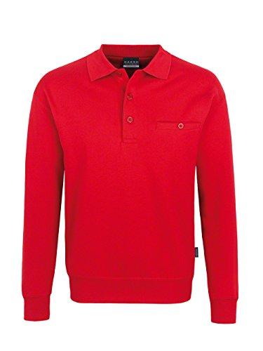 Hakro Herren Pocket-Polo-Sweatshirt Premium # 457 Rot