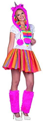 (Rubie's Einhorn Kostüm Kleid bunt Größe 36 Damen Karneval Unicorn Fasching Regenbogen Tutu)