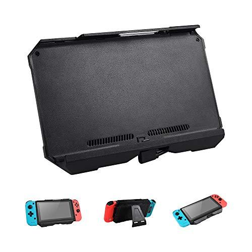 Prous 2 in 1 Nintendo Switch Akku Ladegerät, SW08 Externer Akku 10000mAh Hohe-Kapazität-Ladegerät Ständer Halter Halterung Ladegerät Power Bank Energiebank für Nintendo Switch