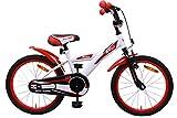 AMIGO - BMX Turbo - Bicicletta Bambini - 18'' (per 5-8 Anni) - Bianco/Rosso