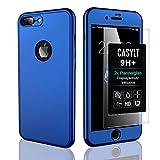 CASYLT [kompatibel für iPhone 8 Plus] 360 Grad Fullbody Soft-Case Hülle [inkl. 2X Panzerglas] Komplettschutz TPU Handy