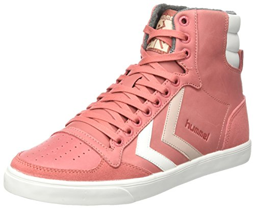 hummel Damen Slimmer Stadil Duo Oiled High Hohe Sneaker, Pink (Faded Rose), 37 EU (High-top-sneaker Pink)