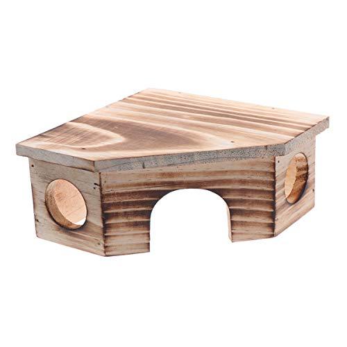 Balacoo Hamster Versteck Rennmaus Haus Hamster holzhaus, nistplatz für kleine Tiere kauen Spielzeug für syrischen Hamster, Ratte, meerschweinchen, Igel Chinchilla -