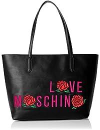 Love Moschino - Borsa Calf Pu Nero, Bolsos totes Mujer, Schwarz (Black), 27x44x15 cm (W x H D)