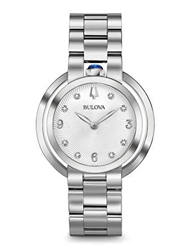 Bulova Reloj Analógico para Hombre de Cuarzo con Correa en Acero Inoxidable 96P184