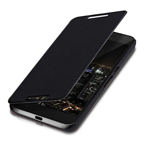 kwmobile Huawei Google Nexus 6P Hülle - Kunstleder Handy Schutzhülle - Flip Cover Case für Huawei Google Nexus 6P