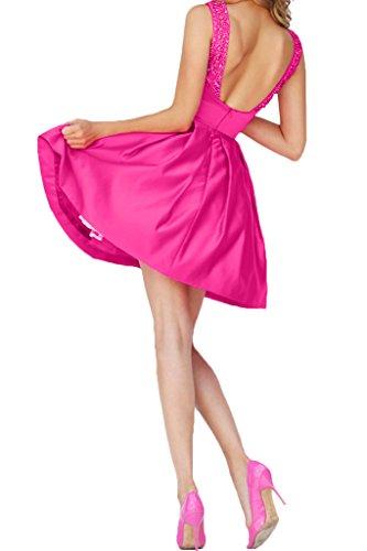 Victory Bridal - Robe - Trapèze - Femme rose bonbon