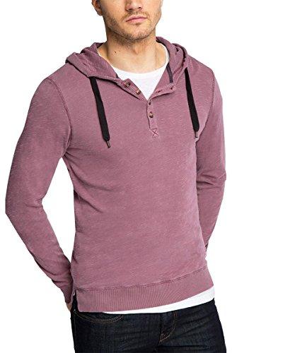 edc by Esprit 105CC2K007 Gel Dye Hoody-T-shirt Uomo,    Bordeaux Red xx-large
