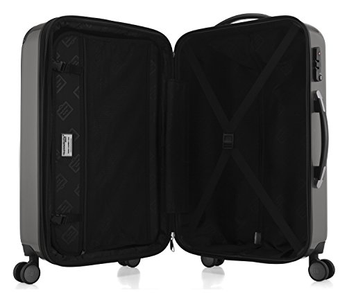 HAUPTSTADTKOFFER - Alex - NEU 4 Doppel-Rollen Hartschalen-Koffer Koffer Trolley Rollkoffer Reisekoffer, TSA, 65 cm, 74 Liter, Titan - 5