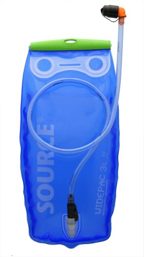 Source Widepac - Running tank, transparent blue / green color, size 3 L