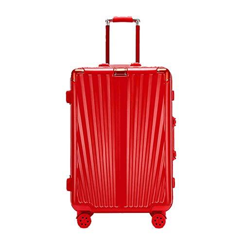 YUNY Koffer, Kabine Koffer leichtes ABS + PC tragen Gepäck 4 Drehrad Trolley Trolley Box Hochzeit Flitterwochen rot-S(20in) (Flitterwochen-box-set)