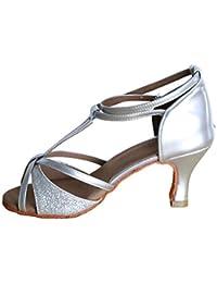 db5a02f54bfaf TRIWORIAE - Donna Scarpe da Ballo Latino Sala da Ballo Standard Tacco 5cm