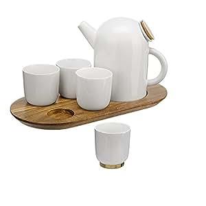 Sia Home Fashion 6 Ferryboat Service à thé en porcelaine