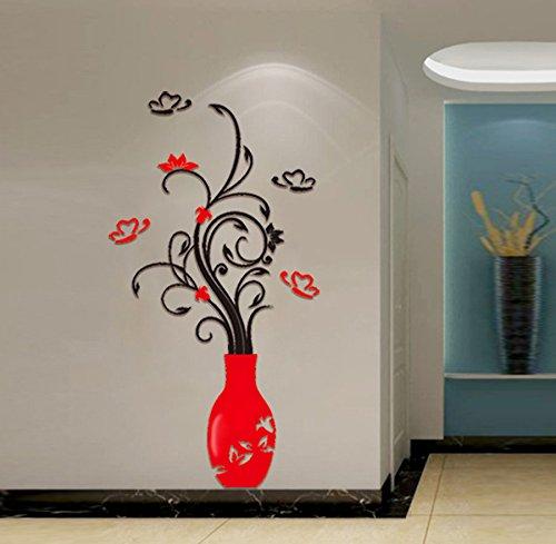 Zegeey DIY 3D Acryl Kristall Wandaufkleber Wohnzimmer Schlafzimmer TV Hintergrund Wohnkultur