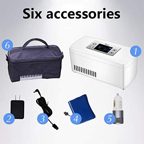 41SfSVPCINL - Drug Reefer, mini refrigerador, caja de insulina para diabetes, caja de insulina para automóvil, refrigerador para automóvil, refrigerador portátil pequeño para medicamentos (blanco) Edición estándar