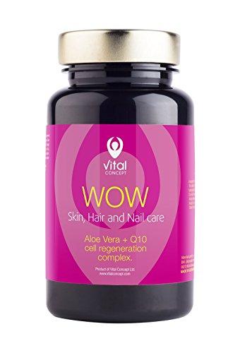 Vital Concept WOW - Haut-, Haar-, Nagel mit Hyaluronsäure und CoQ10, 60 Kapseln, 30 Tage -