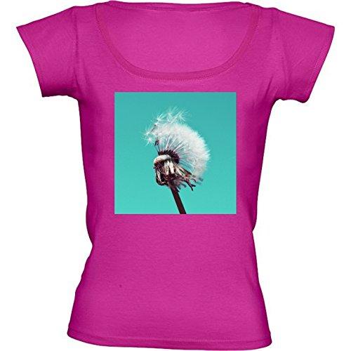 camiseta-rosa-fuschia-con-cuello-redondo-para-mujeres-tamano-m-diente-de-leon-by-wonderfuldreampictu