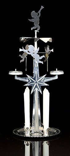 Neue Weihnachten Angel Chimes Engel/Cherub Rotierende Geläut Spinner mit Kerzen Schwedisches Design