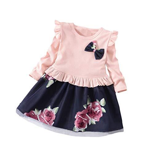 ღ uomogo abiti bambini estate maniche lungo floreale vestito gonne 1-5  anni 2428515a363