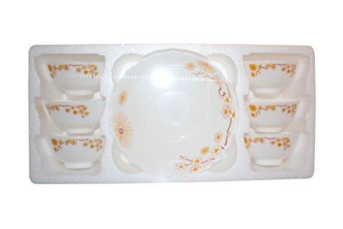 Geschirr Keramik Suppenteller Set von 7Spülmaschinenfest und hitzebeständig Glaswaren Schalen Orange