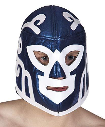 Für Wrestler Kostüm Erwachsene - Boland 04221 Wrestling Maske Titan Fighter, blau