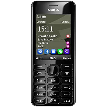 Nokia 206 SIM Free Mobile Phone - Black
