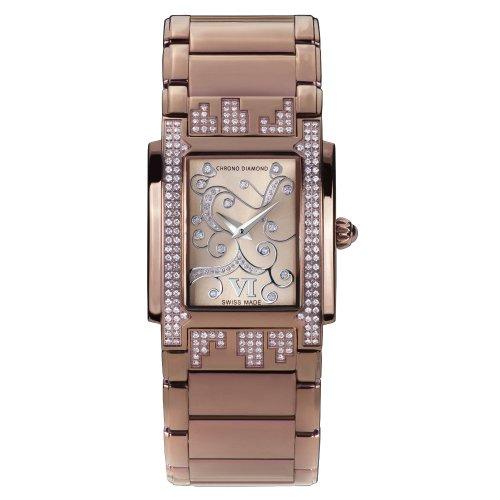 Chrono Diamond 82081_ braun-29mm–Montre bracelet pour femme, bracelet en métal marron