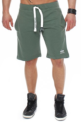 Finchman 95X2 Herren Cotton Sweat Short Kurze Hose Bermuda Grün XL