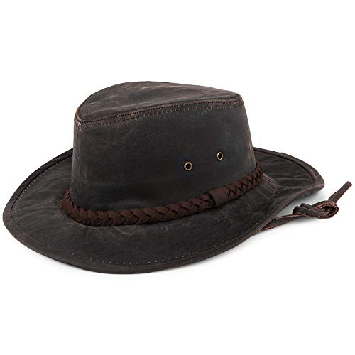 0d34fadec4258 Dorfman Pacific Sombrero de algodón Aussie Outback Impermeable Marrón - XL