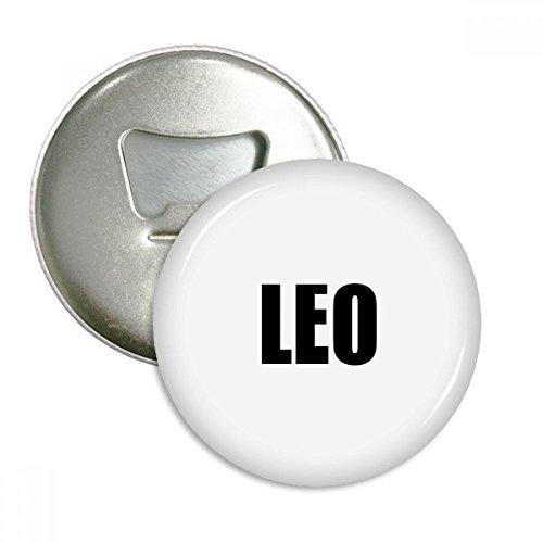 DIYthinker Leo Sternzeichen Schwarze runde Opener Magnets Abzeichen-Knopf-3pcs Geschenkflasche Silber - Leo-abzeichen