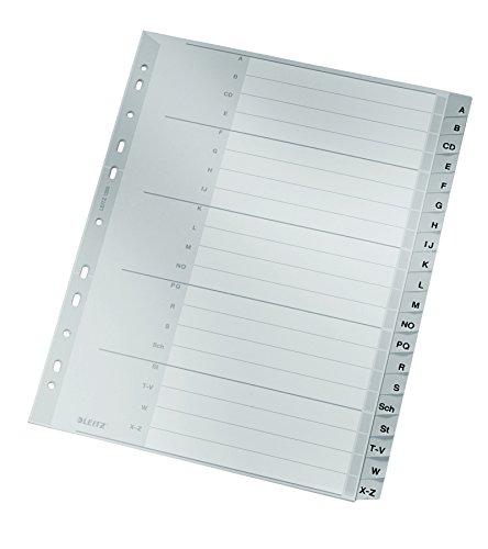 Preisvergleich Produktbild Leitz Register A-Z 1260-00-00 A4 PP