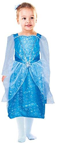 kostüm Prinzessin, Kleid mit Schneeflocken, 116, blau (Schneeflocke Kostüm Mädchen)