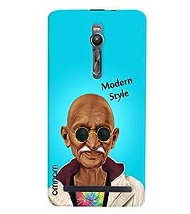 Omnam Mahatma Gandhi Printed in modern look with sunglass for Asus Zenfone 2