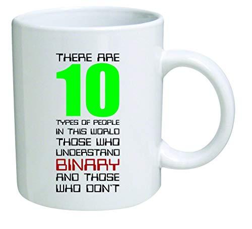odin sky Spaßbecher & ndash; Es gibt 10 Arten Dieser Welt VON Menschen. Binäre Computer-Geek-Nerd-Programmierung - 650 ml Kaffeetasse & ndash; inspirierendes Geschenk und Sarkasmus - EIN to Keep TM (Computer-programmierung-becher)