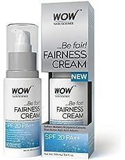 WOW Fairness SPF 20 PA++  No Parabens & Mineral Oil Cream, 100mL