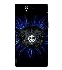 PrintVisa Religious & Spiritual Sikh 3D Hard Polycarbonate Designer Back Case Cover for Sony Xperia Z