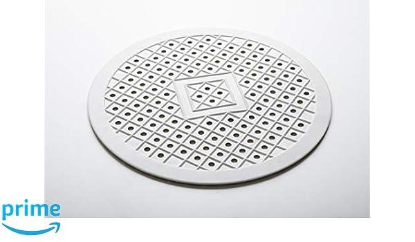 Smart-T-Haus Tapis Caoutchouc Naturel pour Vaisselle Rond /Ø 32/cms 32/cm Blanc