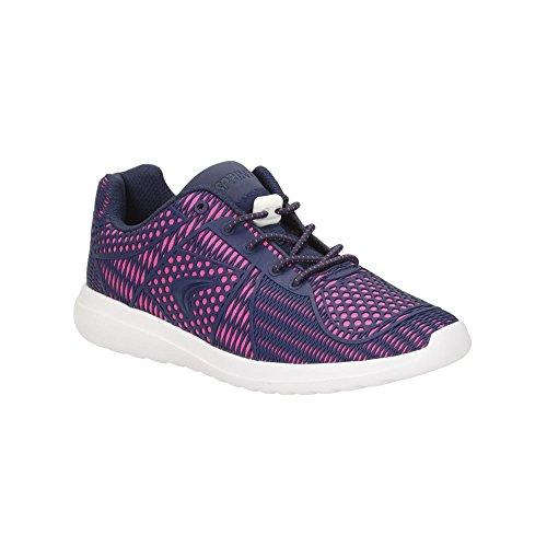 Clarks filles Sport out-of-s sprintwild cache-col multifonctions formateurs Textile en bleu Pink Combi