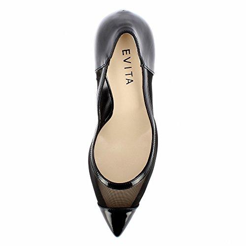 Paysagiste Evita Verni Escarpins Cuir Noir Femme Shoes Alina xp0zpqw6O