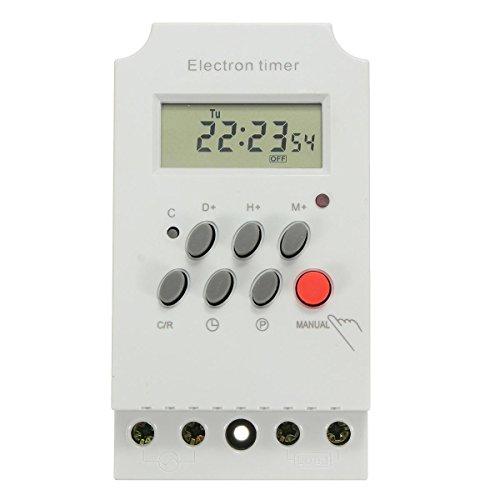 xcluma Digital Weekly Hourly Programmable Electronic Timer Socket Ac 220V 25A