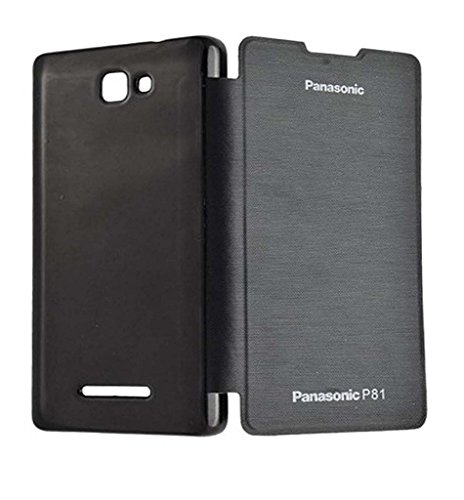 SSS Flip Cover For Panasonic P81 - Black  available at amazon for Rs.249
