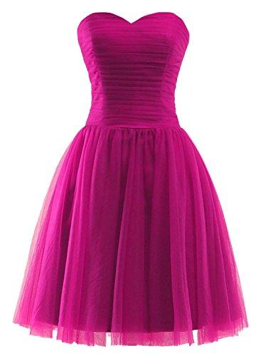 Azbro Women's Fashion Solid Color Off Shoulder Mesh Dress Rose