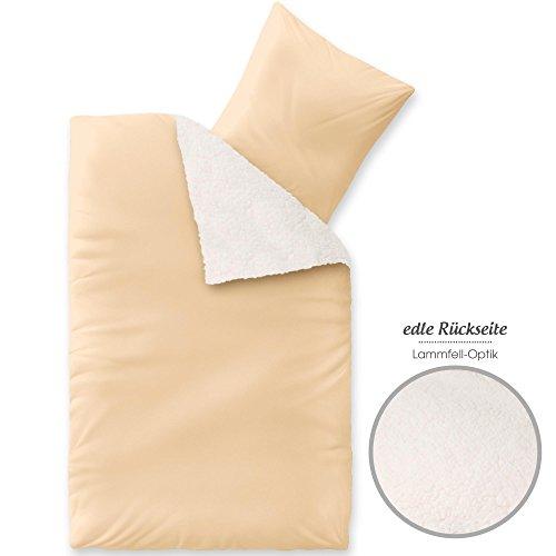 aqua-textil Arctic Bettwäsche 135x200, weich und wärmend, Nicki Bettbezug, beige 1000529