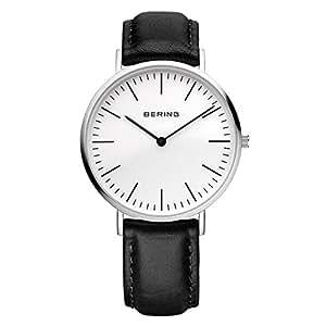 Bering Time - 13738-404 - Montre Homme - Quartz Analogique - Bracelet Cuir Noir