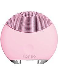 FOREO LUNA Mini Appareil Visage Électrique, Brosse Portable Et Rechargeable Via Câble USB, Système De Nettoyage Sonique, Petal Pink