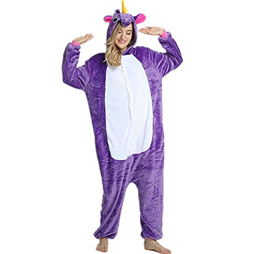 Sweetheart -LMM Einhorn Kigurumi Fleece-Schlafanzug mit Kapuze, super -