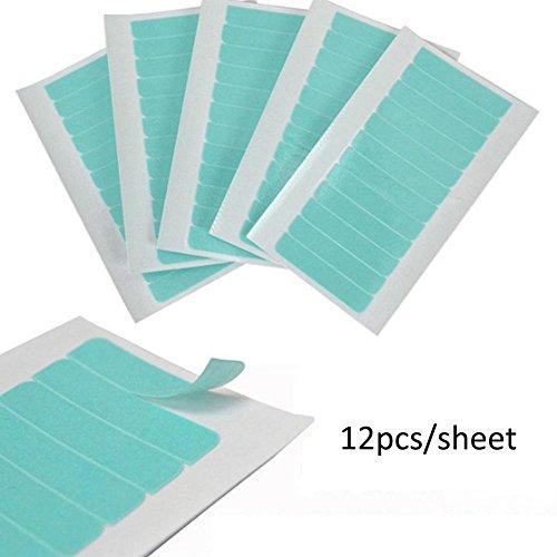 zhuotop 12/tabellenregistern vorgeschnittenen Doppelseitiges Klebeband für Skin Weft Tape in Haarverlängerung Verlängerung Ersatz