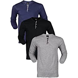 Maniac Men's Full Sleeve V-Neck Tshirts Combo Pack of 3
