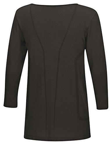 SleepShirt SUBRA / Atmungsaktives Damen Schlafshirt mit Seide / 3/4 ARM / Seamless �?ohne störende Nähte / dreimal weicher als Baumwolle / Nachtwäsche mit Funktion Schwarz