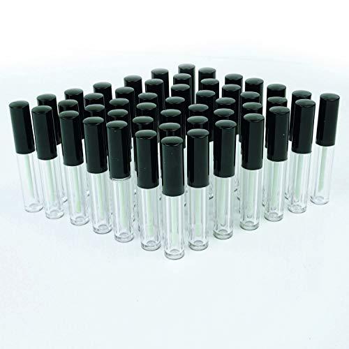 Brillo de Labios glasklare botellas redondo con aplicador Black Shine (3ml vacío...